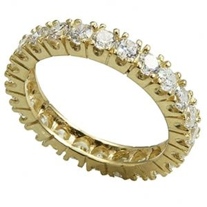 10k solid gold eternity ring wedding engage
